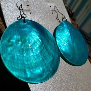 Jewelry - Abalone Shell Round Drop Earrings